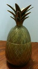 "Vintage Brass Pineapple Trinket Holder/  /Candle stick - 7 1/2"" tall"