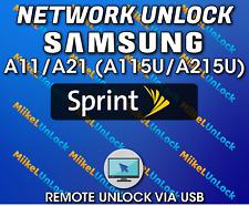 Network Unlock SAMSUNG A11 A115U / A21 A215U Sprint Boost Mobile - Remote by USB