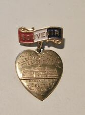 1909 ALASKA-PACIFIC-YUKON Exposition Souvenir Heart Dangle Pin