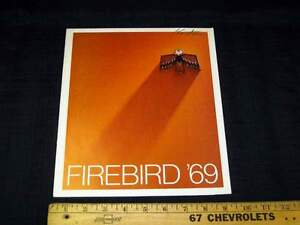 1969 Pontiac Firebird Car Catalog Dealer Sales Brochure