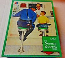 """""""The Runaway"""" Factory Sealed The Norman Rockwell Series a Mb Textured Puzzle"""