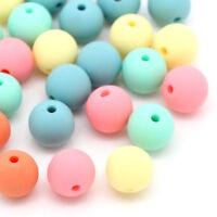L/P: 300 Mix Bonbonfarben Spacer Kugeln Beads Schmuckperlen 9x10mm