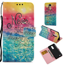 Sea wave 3D wallet Leather Case for OnePlus 5T /LG K20 Plus /Rebel 2 LTE /Sony