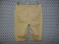 Size 4 NYDJ Not Your Daughters Jeans Women Tummy Tuck Khaki Beige Bermuda Shorts