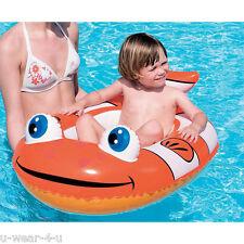 Per bambini Gonfiabile Clown Pesce BARCA Galleggiante Pool LILO ZATTERA 102cm -69 cm circa