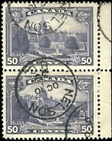 Used Canada 50c F-VF PAIR of 1935 Scott #226 King George V Pictorial Stamps