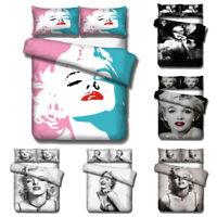 3D Marilyn Monroe Pattern Duvet Cover Bedding Set Quilt Cover Pillowcase