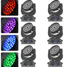 6Pcs 36X10W Zoom Rgbw 4in1 Led Moving Head Wash 16Ch Dmx Stage bar club Lighting