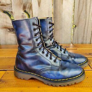 💥Dr. Martens Doc England MIE Rare 80's Vintage Blue 1490 Boots UK4 US6💥