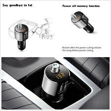 Universal Auto Bluetooth Kit FM Transmitter Wireless Radio Adapter USB Charger