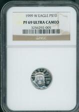 1999-W $10 PLATINUM EAGLE STATUE OF LIBERTY 1/10 Oz. NGC PR69 PROOF PF69 !!!