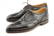 Crockett & Jones Dark Brown Calf Cavalry Brogue Shoes Size UK 11.5E 341 Last
