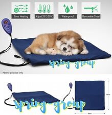 Heated Pet Bed Mat Warmth Electric Cat Dog Waterproof Adjustable Temperature