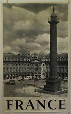 Affiche France PARIS PLACE VENDOME Ann '50 Currial Archereau, Paris