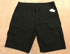 G STAR RAW Loose 34 / Relaxed 35  BLACK Men's ROVIC Bermuda Combat Cargo Shorts