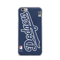 NBL iPhone X XR Rubber Case Dodgers Baseball iPhone 7 8 Plus Cover iPhone XS Max