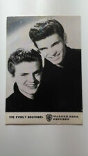 Everly Brothers Original Postcard With Discography Warner Bros 1962 Italy Ex