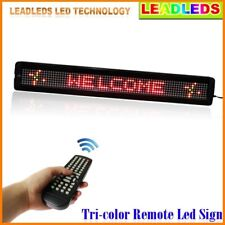 RGY Tri-color Programmable LED Moving SIGN Scrolling Message Display For Shops