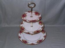 Royal Albert Old Country Roses Bone China 3-Tier Hostess Cake Stand VGC