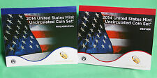 2014 ANNUAL US Mint Uncirculated Coin Set 28 P and D Minted Coins with COA