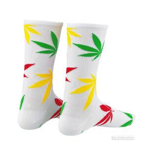 Supacaz SupaSox RAD Tall Cycling Socks ZION WHITE - One Pair