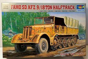 1/72 Trumpeter 07203 German 18 Ton Famo Heavy Half Track Truck Vehicle Kit