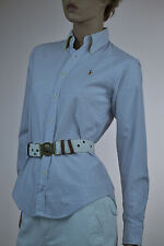 Ralph Lauren Classic Fit Blue & White Stripe  Blouse Shirt-Sz 14- NWT