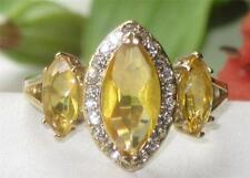 Marquise Stone Yellow Gold Costume Rings