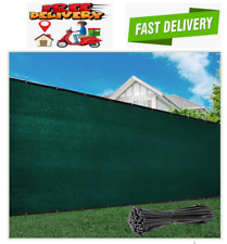 6' x 50' Green Fence Privacy Screen Windscreen Cover Fabric Shade, Grade 170 GSM