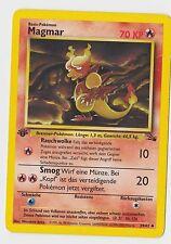 Pokemon Fossil non-Holo Karte/Card: 1st/erste/1. EDITION: Magmar