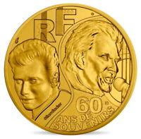 FRANCE 0,25 1/4 EURO 2020 JOHNNY HALLYDAY 60 ANS DE SOUVENIRS @ RARE !