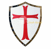 "24"" Medieval Knight Crusader Shield Armor Kingdom of Heaven with Red Cross New"