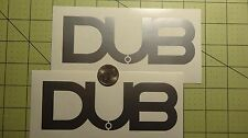 2x DUB Car Decal