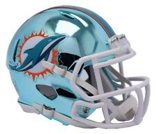 NFL Football Helm MIAMI DOLPHINS Mini Speed Chrome Footballhelm Helmet