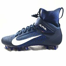 Nike Alpha Menace Elite 2 football Cleats Blue Ao3374-401 Flyknit Men's Sz 10.5