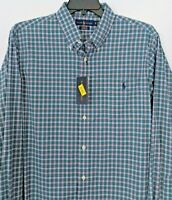 Polo Ralph Lauren Men's XL Green Plaid Long Wicking Sleeve Shirt NWT