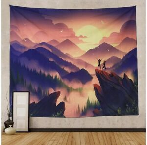 "NASKY Tapestry Wall Hanging Mountain Tapestry, Psychedelic Sunset, 51.2"" X 59.1"""