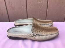 EUC Geox Respira Women's US 8 EUR 39 Leather Alligator Slip-on Casual Loafers