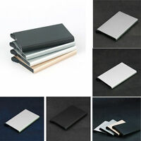 RFID Blocking Aluminum Alloy Card Holder Case Protector Credit Card ID Wallet