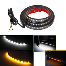 "Amber&White 120SMD 48""LED Strip Bar Turn Signal Light Running Parking Side Light"