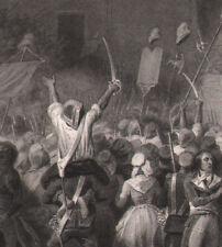 1837 Gravure originale mort Féraud tribunal révolutionnaire révolution française