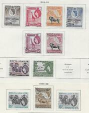 11 Kenya and Uganda Stamps from Quality Old Antique Album 1954-1959