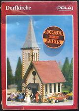 POLA 605 - Dorfkirche - Village Church - Kirche - H0 - Eisenbahn Modellbausatz