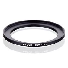 RISE(UK) 60mm-72mm 60-72 mm 60 to 72 Step Up Ring Filter Adapter black