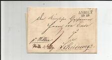 Preussen V. / ANHOLT 19.10., L2 (ca. 1840) auf Pracht-Tax.-Brief n. Scheideweg
