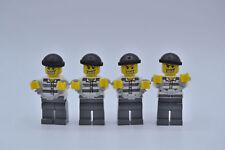 LEGO 4 x Figur Verbrecher mit Mütze Schwarz cty007 aus Set 7743 7744 7237