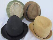 4 Women's Fancy Fashion Fedoras Hats Hawaii Mossimo D&Y Surfware Sz M/L LOT