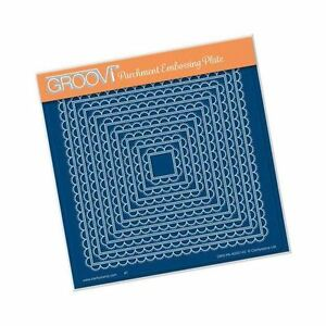 Nested Scallop Squares - Groovi A5 Square Plate