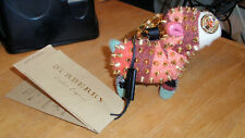 $395 Burberry Cashmere Studded Sheep Bag Purse Charm Stuffed Animal Key Ring