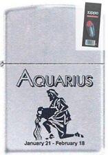 Zippo 9282 horoscope aquarius Lighter + FLINT PACK